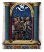 Annunciation To Shepherds Fleece Blanket