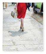 Anonymous 1940s Woman  Fleece Blanket
