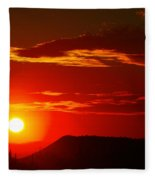 Another Beautiful Arizona Sunset Fleece Blanket