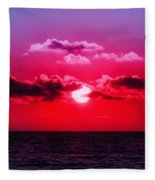 Another Day Another Sunset Fleece Blanket