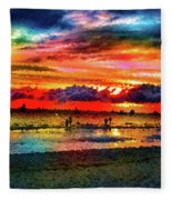 Another Day At The Beach Fleece Blanket