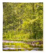 Another Day At The Lake Fleece Blanket