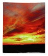 Another Illinois Sunset Fleece Blanket