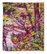 Another Look At Five Mile Mountain Fleece Blanket