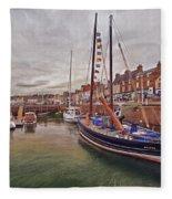 Anstruther Harbor Fleece Blanket
