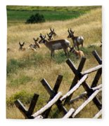 Antelope 2 Fleece Blanket