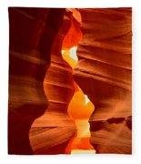 Antelope Canyon Candle Fleece Blanket