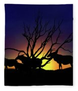 Antelope Crossing Fleece Blanket