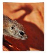 Antelope Ground Squirrel II Fleece Blanket