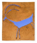 Antelope Petroglyph Fleece Blanket