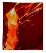 Antelope Textures And Flames Fleece Blanket