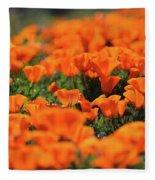 Antelope Valley California Poppies Fleece Blanket