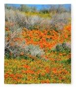 Antelope Valley Poppies Fleece Blanket