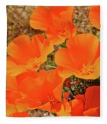 Antelope Valley Poppy Portrait Fleece Blanket