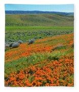 Antelope Valley Poppy Reserve Fleece Blanket