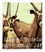 Antelopes Fleece Blanket