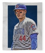 Anthony Rizzo Chicago Cubs 3 Fleece Blanket