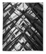 Anthony Skylights Grayscale Fleece Blanket