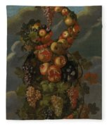 Anthropomorphic Allegory Of Autumn Fleece Blanket