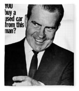 Anti-nixon Poster, 1960 - To License For Professional Use Visit Granger.com Fleece Blanket