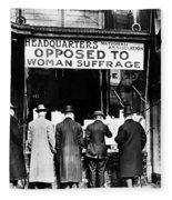 Anti-suffrage Association Fleece Blanket