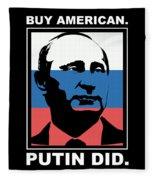 Anti Trump Art Impeach President Resist Putin Dark Fleece Blanket