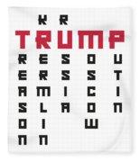 Anti Trump Art Impeach President Resist Putin Light Fleece Blanket