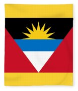 Antigua And Barbuda Flag Fleece Blanket