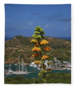 Antigua National Flower  Fleece Blanket