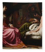Antiochus Prince Of Syria And Stratonice His Stepmother Fleece Blanket