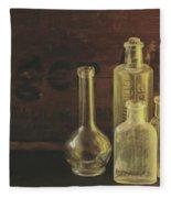 Antique Bottles Fleece Blanket