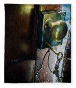 Antique Brass Doorknob Fleece Blanket