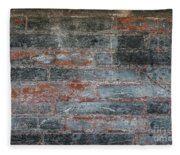 Antique Brick Wall Fleece Blanket