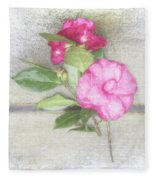Antique Camellias Square Fleece Blanket