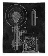 Antique Camera Flash Patent Fleece Blanket