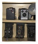 Antique Cameras Fleece Blanket