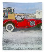 Antique Car Fleece Blanket