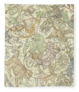 Antique Celestial Map Fleece Blanket