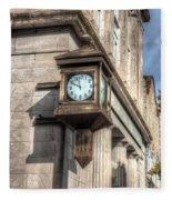 Antique Clock  Edenton North Carolina Fleece Blanket