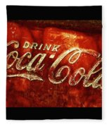 Antique Coca-cola Cooler II Fleece Blanket