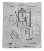 Antique Coffee Percolator Patent Fleece Blanket