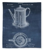 Antique Coffee Pot Patent Fleece Blanket