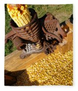 Antique Corn Sheller Fleece Blanket