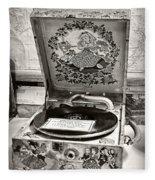 Antique Decca Gramophone By Kaye Menner Fleece Blanket