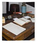 Antique Desk Fleece Blanket