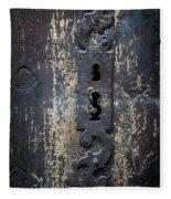 Antique Door Lock Detail Fleece Blanket