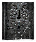 Antique Door Lock Fleece Blanket