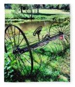Antique Farm Equipment 3 Fleece Blanket
