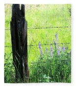 Antique Fence Post Fleece Blanket