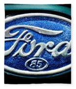 Antique Ford Badge Fleece Blanket